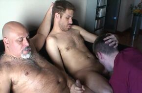 Gay group creampie