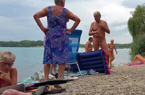Older nudist men
