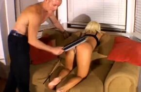 Spank with paddle